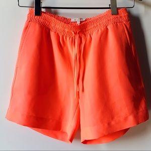 Maje neon orange shorts with pockets size small